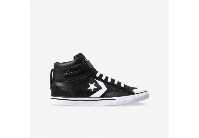 6cff7a577 Shop Kids Converse Black Pro Blaze Strap High Top Online