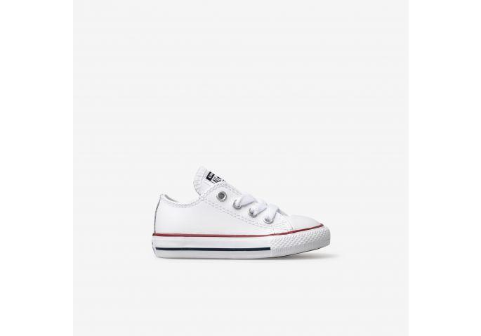 be42af43087 Shop Toddler Converse White Chuck Taylor All Star Leather Low Top Online