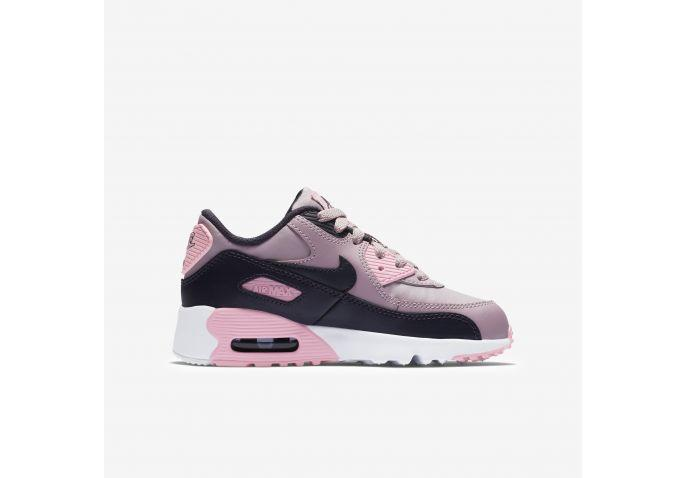 7294b4127 Shop Kids Nike Pink Air Max 90 Leather Online