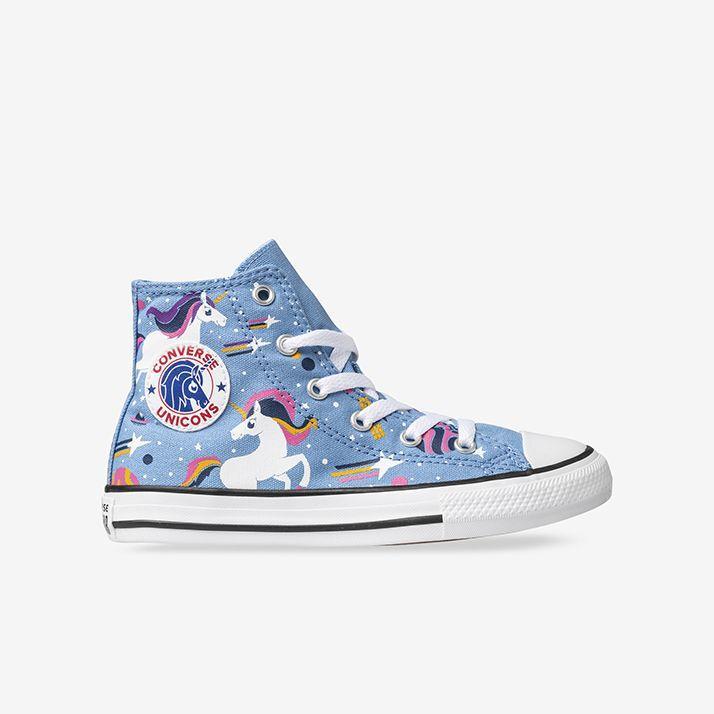 Shop Kids Converse Blue Chuck Taylor All Star Unicorns