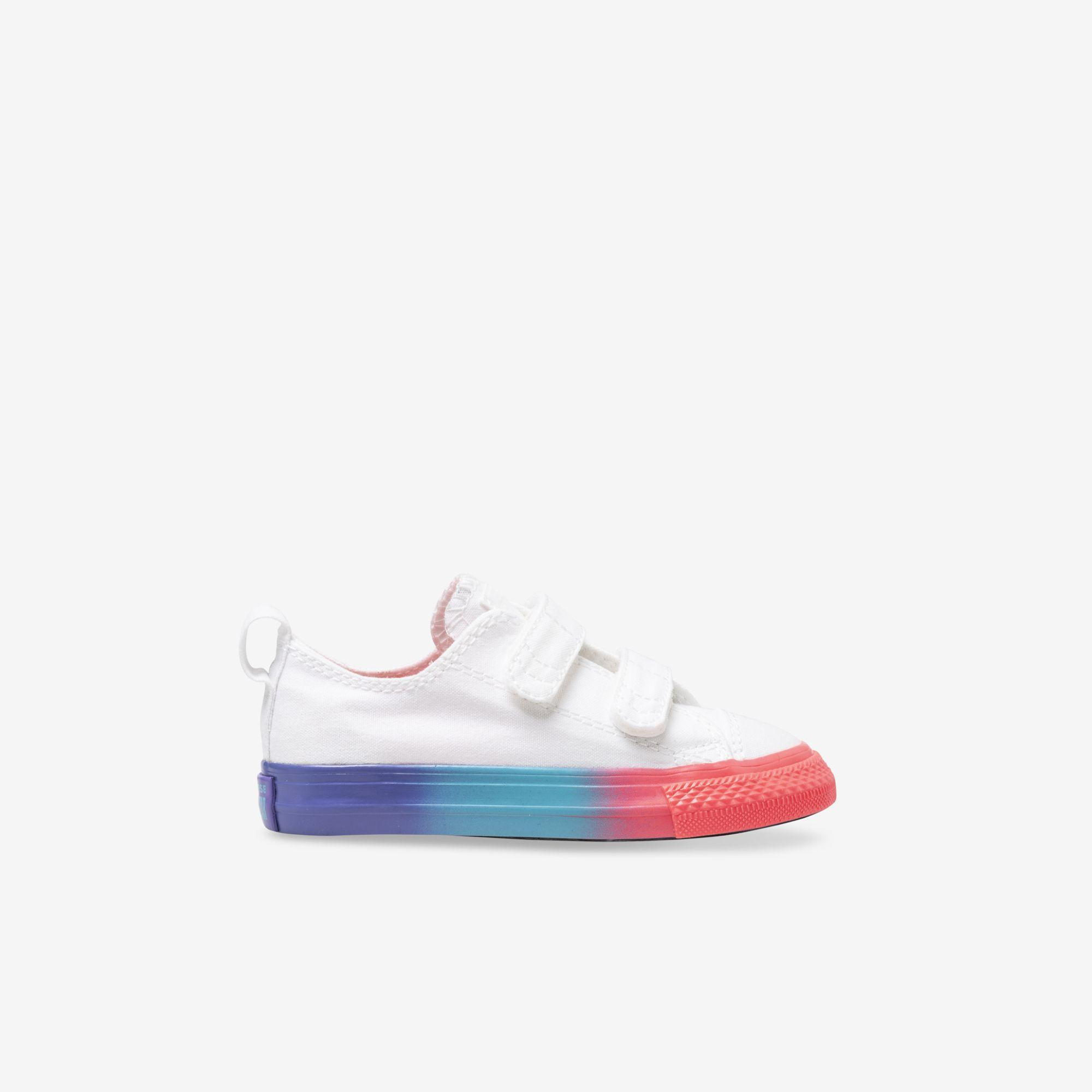 Shop Toddler Converse White Chuck Taylor All Star Rainbow