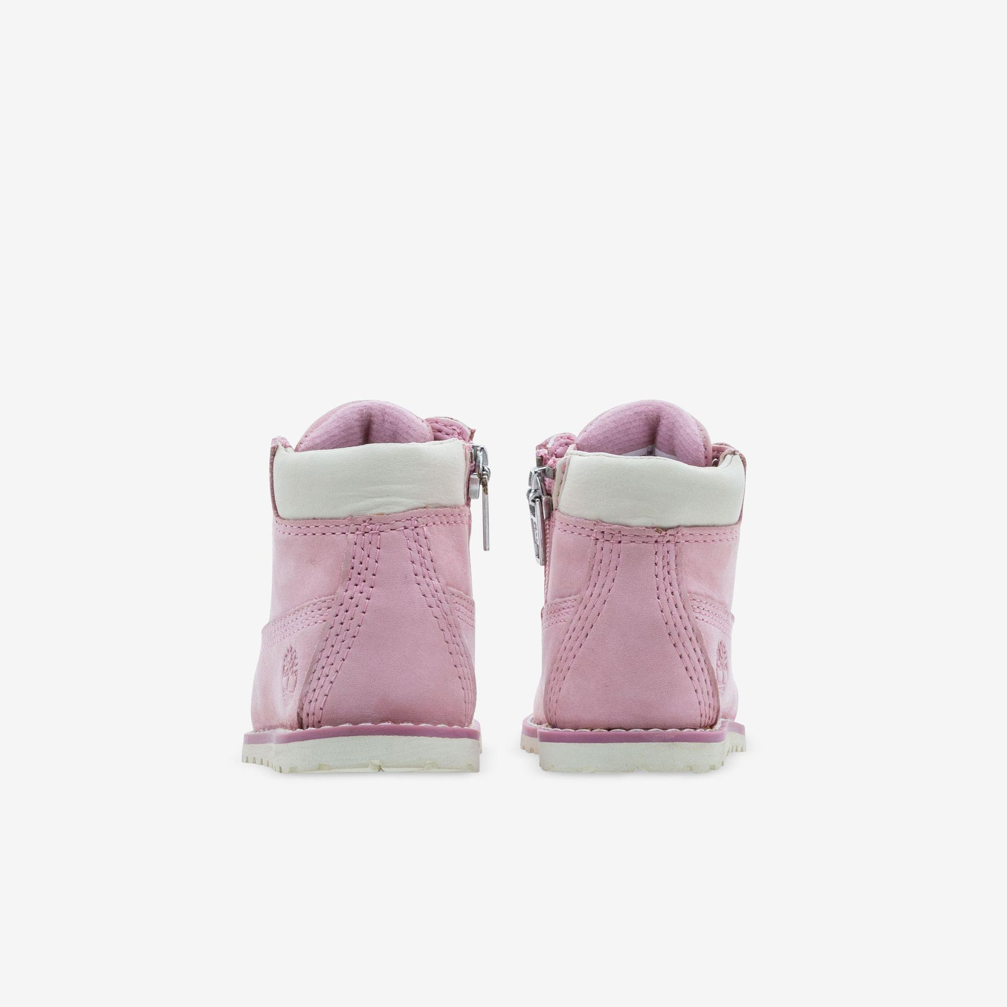 Toddler Pink Timberlands with Ribbon Laces