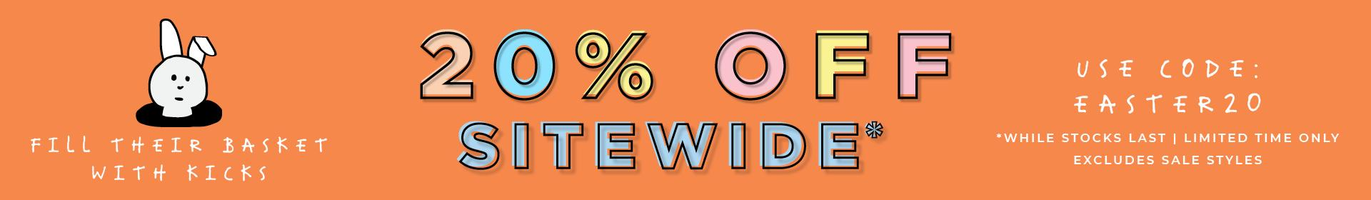 20% Off Sitewide Easter Sale | Excludes Sale | Use Code: EASTER20 | Ends Monday