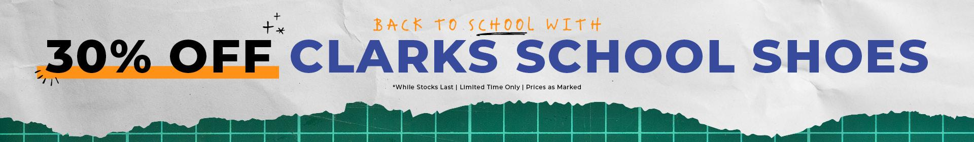 Shop 30% Off Clarks School Shoes for a Limited Time Only