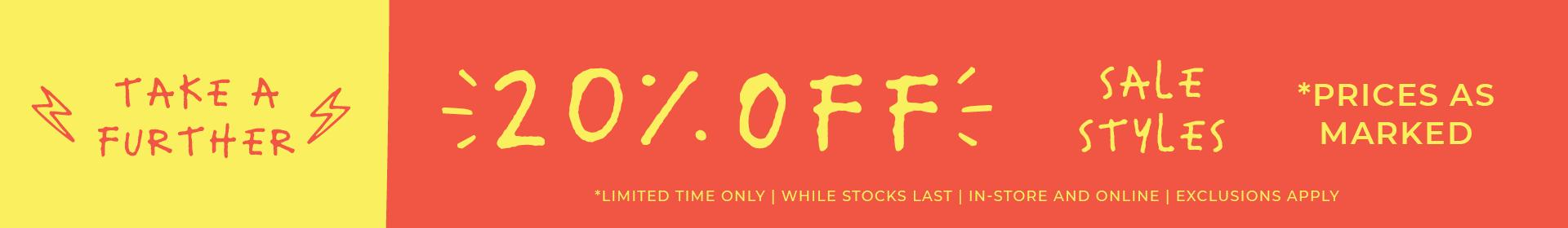 TAF 20% Off Sale | Limited Time ONLY